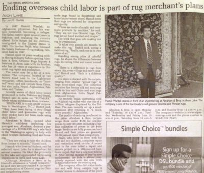 Ending Overseas Child Labor is Part of Rug Merchant's Plans